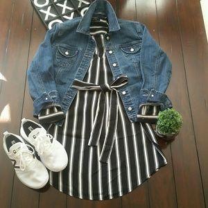 Forever 21 Shirt dress, Large,Black and white.